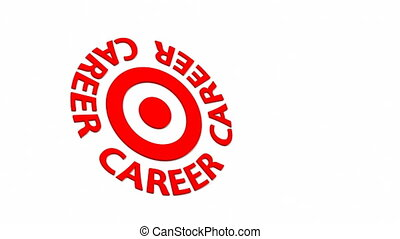 Career Target - Target and dart with circular text Part of a...