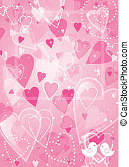 Heart valentines day background with frame. EPS10. Contains...