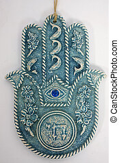 hamsa hand - hams hand on isolated background