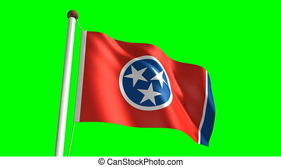 Tennessee flag video seamless green screen