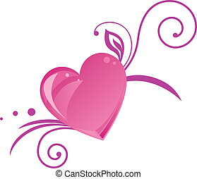 Romantic heart silhouette