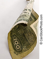 paper currency on isolated background