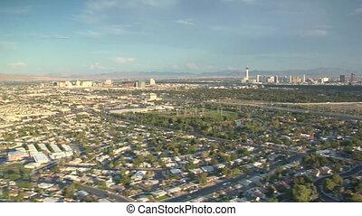 aerial shot of Las Vegas sprawl daytime