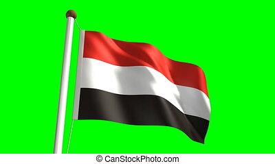 Yemen flag video