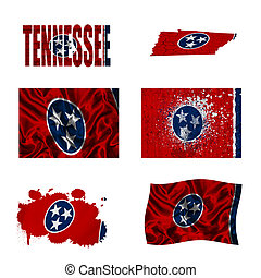 Tennessee flag collage