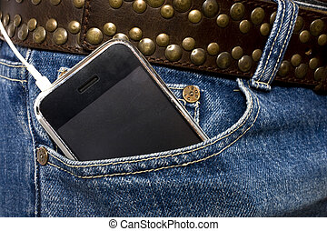 ipod in pocket - i pod in pocket of jeans