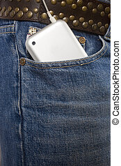 ipod - i pod in jeans pocket