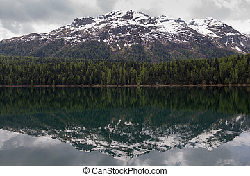 Lake St Moritz , Switzerland smaller lake of the Upper...