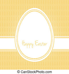 happy easter egg white yellow bunny background