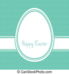 happy easter egg white green bunny background