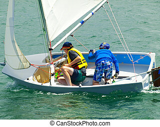 Children Sailing - Children sailing activities at Belmont...