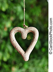 Heart shape wood