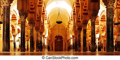 Cathedral-Mosque of Cordoba, Spain - View of...