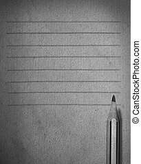 pencil and paper with line abtract for memory icon