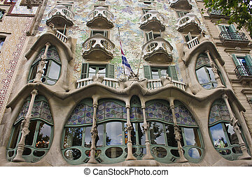 gaudi house - Gaudi house Casa Battlo in Barcelona, Spain
