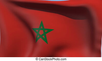 Flag of Morocco - Flags of the world collection - Morocco