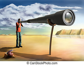Surreal photographer - Surreal illustration of a...