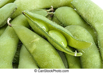 fresh soybeans - Fresh soybeans in a macro image