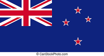 Flag of New Zealand - Blue Ensign - National flag and state...
