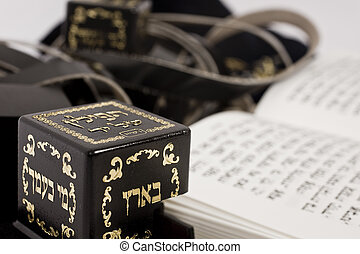 tefillin with siddur - thrilling with sidearm