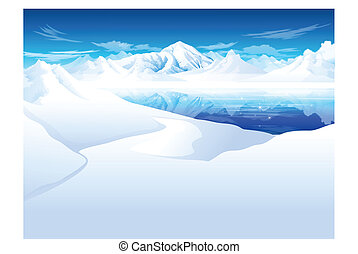 snowcapped Mountain - this illustration is the general...