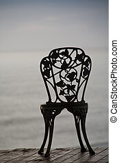 vintage chair - stylish vintage chair with a view