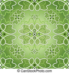 Floral green pattern