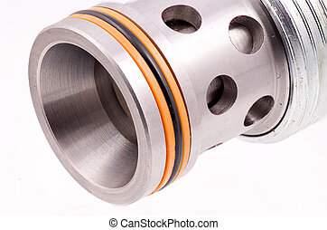 Hydraulic Cartridge Valve - Closeup Of a Hydraulic Cartridge...