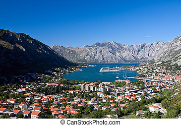 Kotor cityscape in Montenegro, Europe