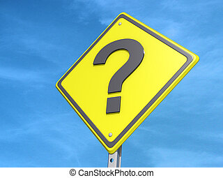 Question Mark Yield Sign