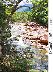 Boulders at Mossman George Queensland Australia