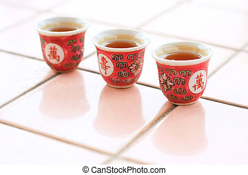 Sacrificial Tea Cup - Threes cups of tea for sacrificial...