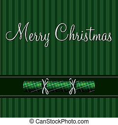 Merry Christmas! - Merry Christmas cracker card in green...