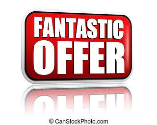 fantastic offer red banner