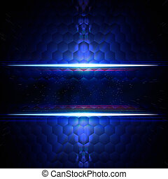 abstract blue hexagons background with text space - abstract...