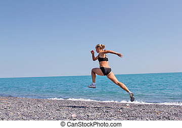women jogging, running - exercising women
