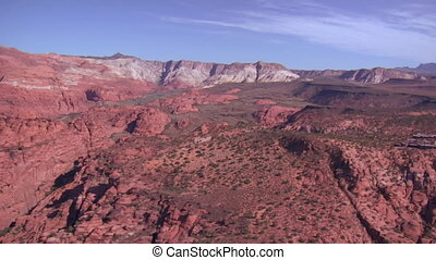 aerial shot of Snow Canyon State Park St George Utah