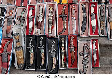 orientalny, nóż