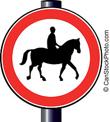 Horse and Rider Sign