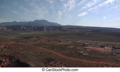 aerial shot near St George Utah