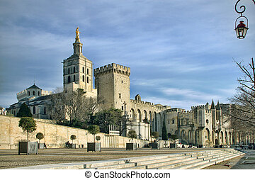 The Popes Palace in Avignon, France - Splendid gothic Popes...