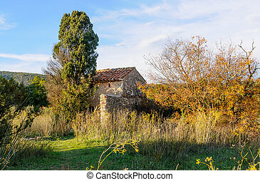Old Little Stones House in Provence - An old stone house in...