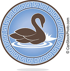 Swan ornament - Beautiful swan ornamental design