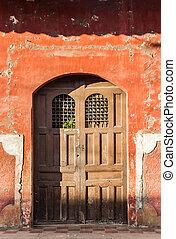 Door in the old part of colonial granada, Nicaragua.
