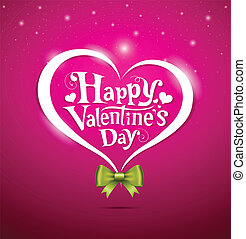 Valentine Day lettering design - Happy Valentines Day...