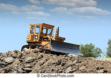 bulldozer working on road construction