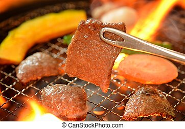 Roast meat called Yakiniku - This is a picture of Korean...
