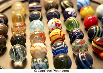 Marbles - marbles on a playing board