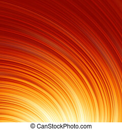 Abstract glow Twist with fire flow. EPS 8