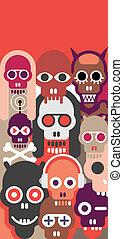 Skulls vector illustration